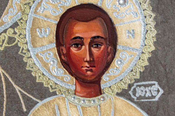 Икона Смоленской Божией Матери № 1-06 подарочная из мрамора, камня, изображение, фото 5