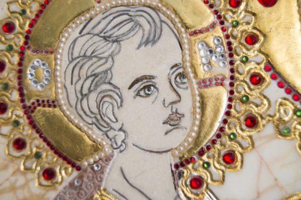 Икона Божией Матери Троеручица № 2-12-2 из мрамора, камня, изображение, фото 14