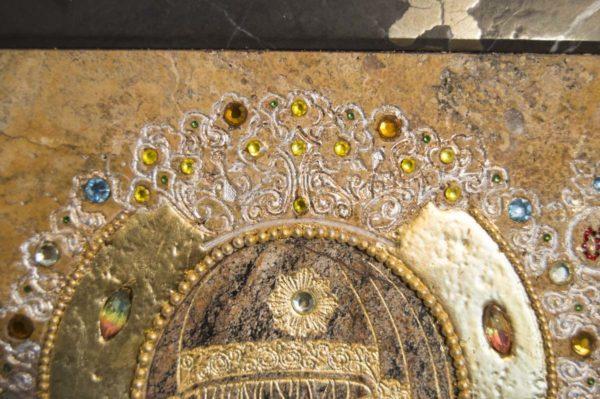 Икона Божией Матери Троеручица № 2-12-5 из мрамора, камня, изображение, фото 10
