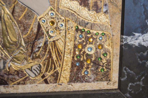Икона Божией Матери Троеручица № 2-12-5 из мрамора, камня, изображение, фото 13