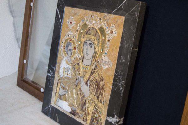 Икона Божией Матери Троеручица № 2-12-5 из мрамора, камня, изображение, фото 15