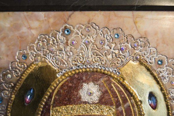Икона Божией Матери Троеручица № 2-12-7 из мрамора, камня, изображение, фото 6