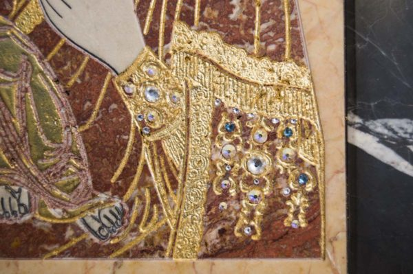 Икона Божией Матери Троеручица № 2-12-7 из мрамора, камня, изображение, фото 9