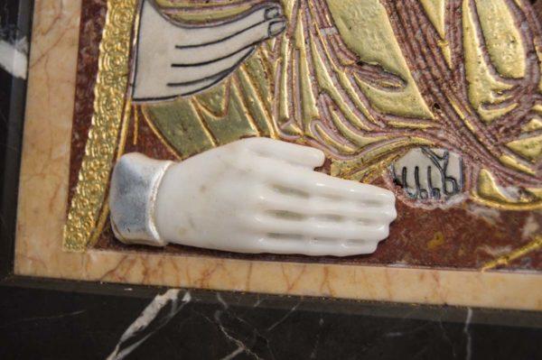 Икона Божией Матери Троеручица № 2-12-7 из мрамора, камня, изображение, фото 10
