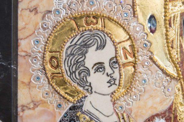 Икона Божией Матери Троеручица № 2-12-7 из мрамора, камня, изображение, фото 12