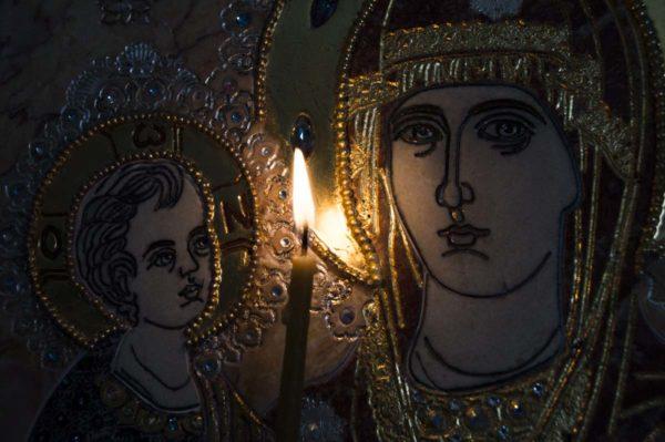 Икона Божией Матери Троеручица № 2-12-7 из мрамора, камня, изображение, фото 15