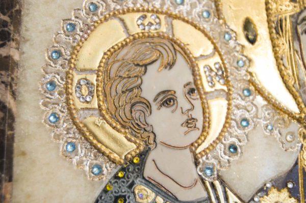 Икона Божией Матери Троеручица № 2-12-8 из мрамора, камня, изображение, фото 9