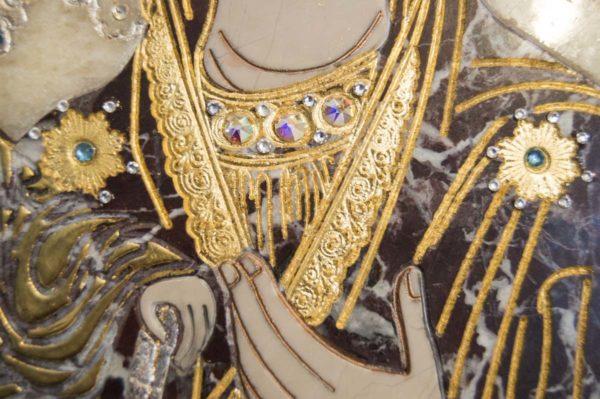 Икона Божией Матери Троеручица № 2-12-8 из мрамора, камня, изображение, фото 10