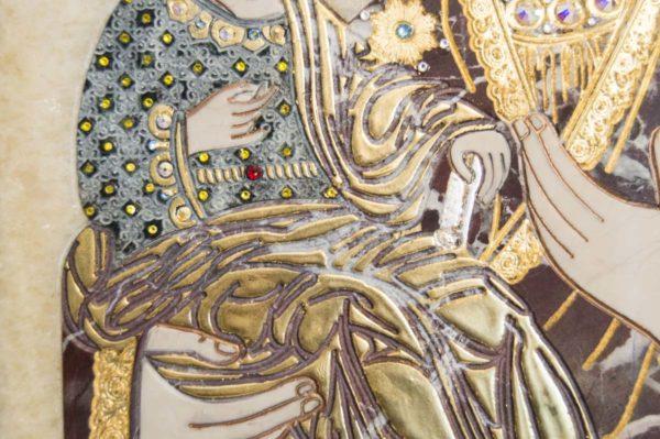 Икона Божией Матери Троеручица № 2-12-8 из мрамора, камня, изображение, фото 11