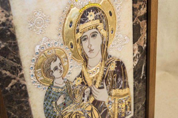 Икона Божией Матери Троеручица № 2-12-8 из мрамора, камня, изображение, фото 13