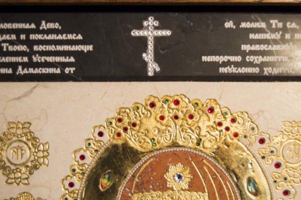 Икона Божией Матери Троеручица № 2-12-9 из мрамора, камня, изображение, фото 6