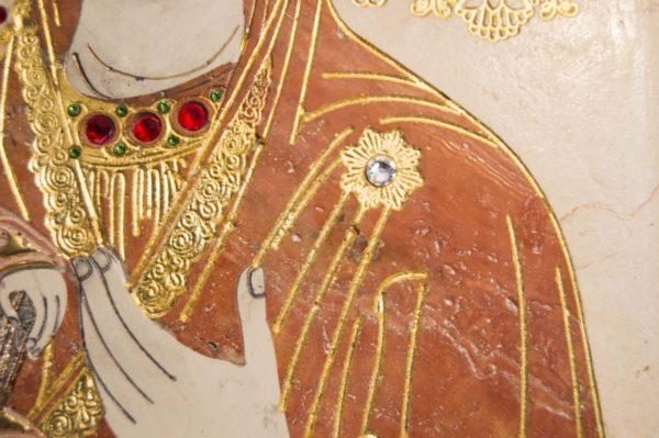 Икона Божией Матери Троеручица № 2-12-9 из мрамора, камня, изображение, фото 8
