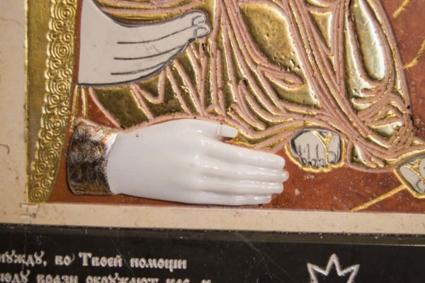 Икона Божией Матери Троеручица № 2-12-9 из мрамора, камня, изображение, фото 11