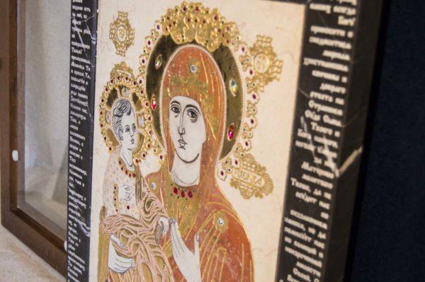 Икона Божией Матери Троеручица № 2-12-9 из мрамора, камня, изображение, фото 12