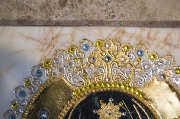 Икона Божией Матери Троеручица № 2-12-10 из мрамора, камня, изображение, фото 19