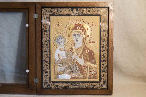 Икона Божией Матери Троеручица № 2-12-11 из мрамора, камня, изображение, фото 7