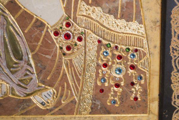 Икона Божией Матери Троеручица № 2-12-11 из мрамора, камня, изображение, фото 8