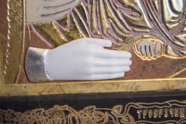 Икона Божией Матери Троеручица № 2-12-11 из мрамора, камня, изображение, фото 10