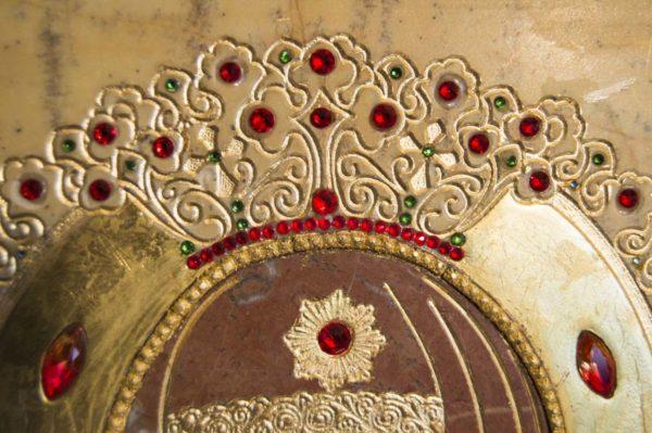 Икона Божией Матери Троеручица № 2-12-11 из мрамора, камня, изображение, фото 12