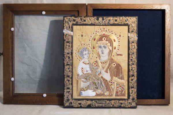Икона Божией Матери Троеручица № 2-12-11 из мрамора, камня, изображение, фото 14