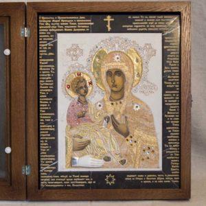 Икона Божией Матери Троеручица № 2-12-13 из мрамора, камня, изображение, фото 5
