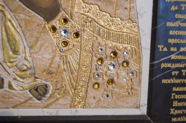 Икона Божией Матери Троеручица № 2-12-13 из мрамора, камня, изображение, фото 6