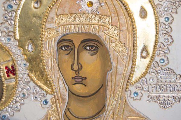Икона Божией Матери Троеручица № 2-12-13 из мрамора, камня, изображение, фото 11