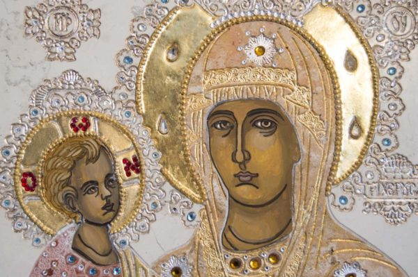 Икона Божией Матери Троеручица № 2-12-13 из мрамора, камня, изображение, фото 12
