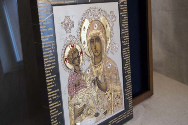 Икона Божией Матери Троеручица № 2-12-13 из мрамора, камня, изображение, фото 13