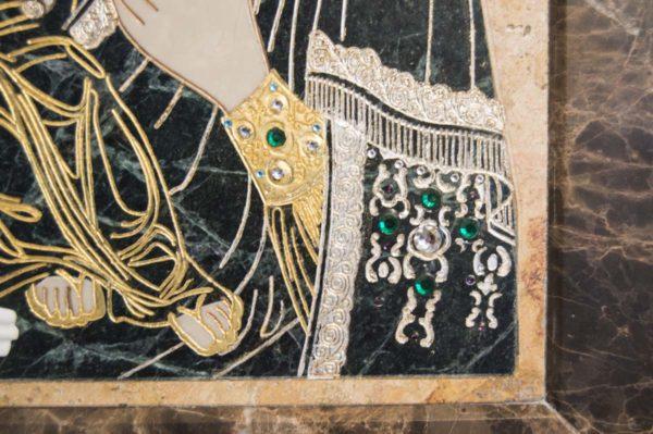 Икона Божией Матери Троеручица № 2-12-12 из мрамора, камня, изображение, фото 5
