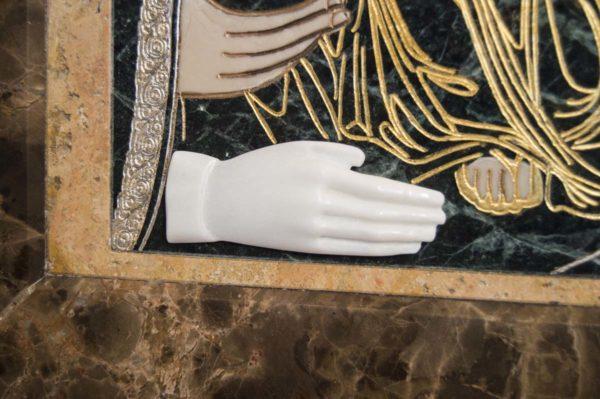 Икона Божией Матери Троеручица № 2-12-12 из мрамора, камня, изображение, фото 7