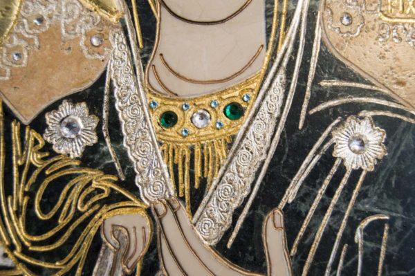 Икона Божией Матери Троеручица № 2-12-12 из мрамора, камня, изображение, фото 8