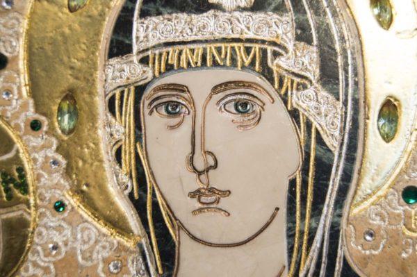 Икона Божией Матери Троеручица № 2-12-12 из мрамора, камня, изображение, фото 9