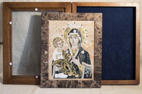 Икона Божией Матери Троеручица № 2-12-12 из мрамора, камня, изображение, фото 12