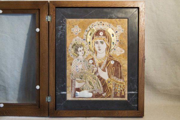 Икона Божией Матери Троеручица № 2-12-14 из мрамора, камня, изображение, фото 10