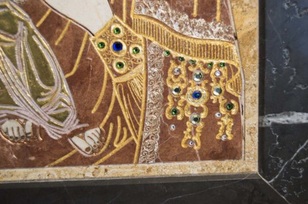 Икона Божией Матери Троеручица № 2-12-14 из мрамора, камня, изображение, фото 12