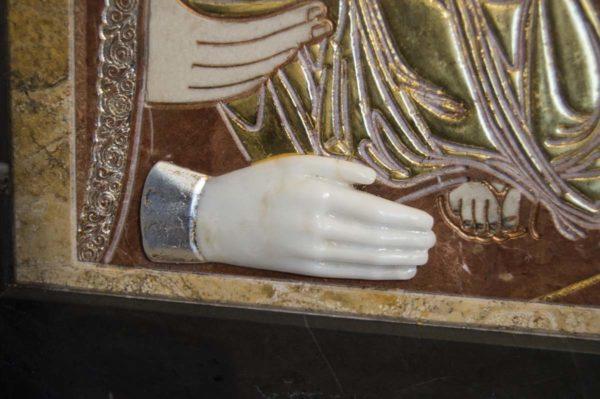 Икона Божией Матери Троеручица № 2-12-14 из мрамора, камня, изображение, фото 14