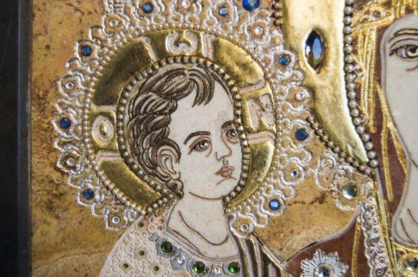 Икона Божией Матери Троеручица № 2-12-14 из мрамора, камня, изображение, фото 16