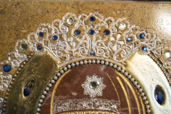 Икона Божией Матери Троеручица № 2-12-14 из мрамора, камня, изображение, фото 17
