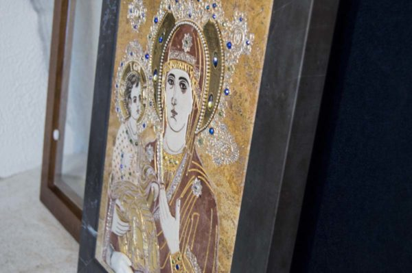 Икона Божией Матери Троеручица № 2-12-14 из мрамора, камня, изображение, фото 18
