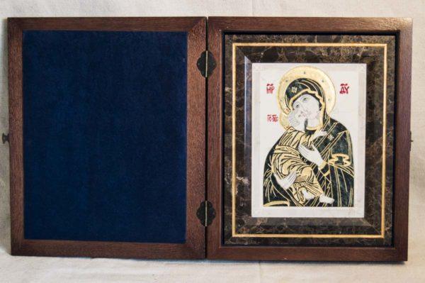 Икона Владимирской Божией Матери № 3 из мрамора, камня, от Гливи, фото 5