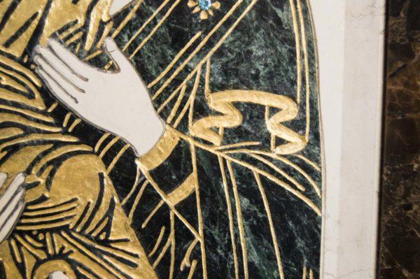 Икона Владимирской Божией Матери № 3 из мрамора, камня, от Гливи, фото 7