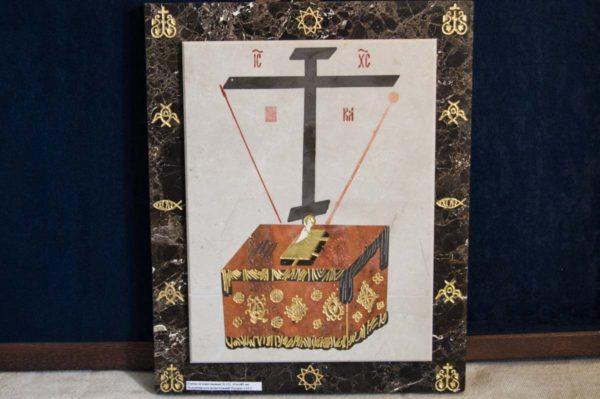 Икона Владимирской Божией Матери № 3 из мрамора, камня, от Гливи, фото 13