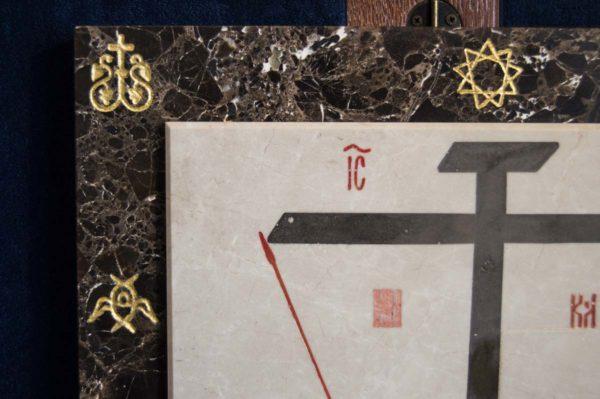 Икона Владимирской Божией Матери № 3 из мрамора, камня, от Гливи, фото 14