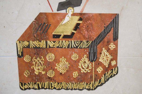 Икона Владимирской Божией Матери № 3 из мрамора, камня, от Гливи, фото 15