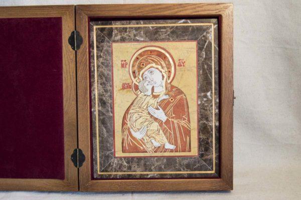 Икона Владимирской Божией Матери № 9 из мрамора, камня, от Гливи, фото 5