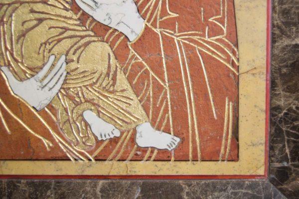Икона Владимирской Божией Матери № 9 из мрамора, камня, от Гливи, фото 7