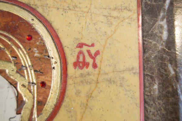 Икона Владимирской Божией Матери № 9 из мрамора, камня, от Гливи, фото 10