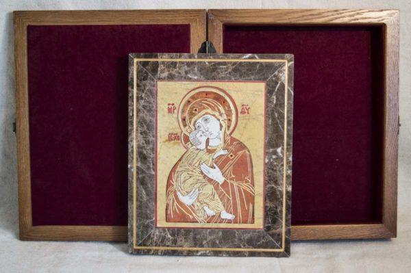 Икона Владимирской Божией Матери № 9 из мрамора, камня, от Гливи, фото 15