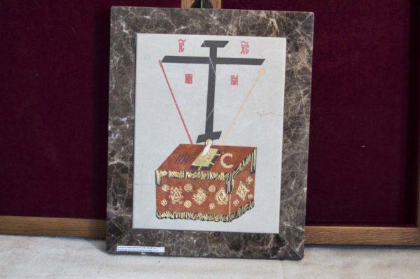 Икона Владимирской Божией Матери № 9 из мрамора, камня, от Гливи, фото 16